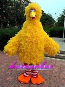 Details About Yellow Big Bird Mascot Costume Of Sesame Street Cartoon Fancy Dress Adult Size