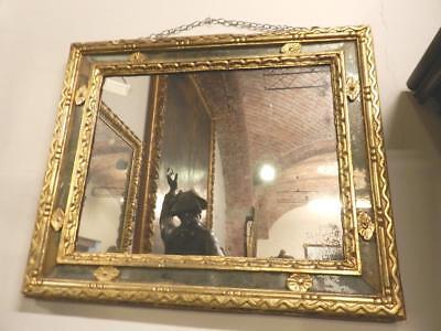 Muebles Antiguos Y Decoración Frank Importante Antigua Espejo Del 700 Marco De La Dorada Época 18° Siglo