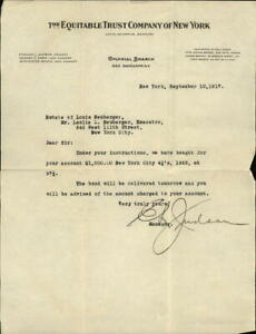 1917 New York New York (NY) Letter The Equitable Trust Company of New York Jewis