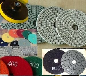 "5"" 125mm Diamond Polishing 15 Pad 2 DAMO Buff Granite Concrete sander glass disc"