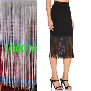 1-Yard-Long-Tassel-Fringe-Fringing-Trim-100cm-39-034-Drop-Carfts-Latin-Costume-DIY