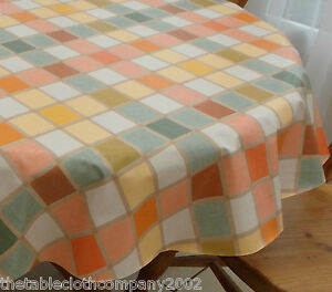 Image Is Loading 100cm Round Wipe Clean PVC Bistro Tablecloth Candy