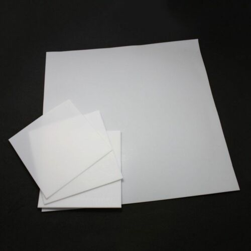 New PTFE  Film Sheet High Temperature Plate Plastics 0.5//1//2//3//4//6mm Thick