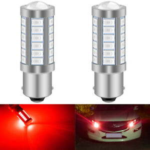 2 Pieces S25 1157 BAY15D Led Turn Signal Reverse Light 5630 LED High Power Led Car Auto Led Bulb Light P21/5W 1157 Led for Cars Red Car Accessories