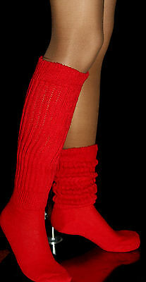 2 = 1 Pink 1Lilac Slouch Knee Scrunchie Socks Hooters Uniform Halloween Costume