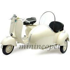 NEW RAY 48993 1955 55 VESPA 150 VL 1T SCOOTER MOTORCYCLE 1/6 with SIDE CAR WHITE