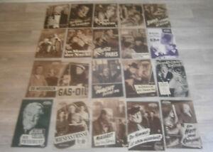 20 FILM PROGRAMME - JEAN GABIN -KONVOLUT -SAMMLUNG
