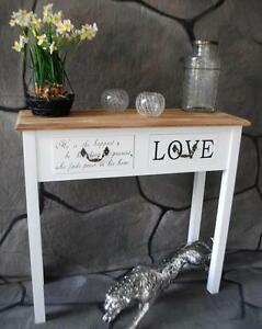 konsole anrichte love konsolentisch sekret r wei landhaus shabby chic sp12 ebay. Black Bedroom Furniture Sets. Home Design Ideas