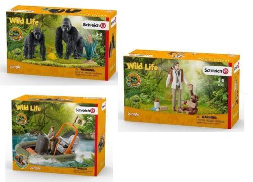 42353 Tierärztin Schleich® Wild Life SET 42382 Gorillas 42352 Schlauchboot