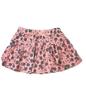 Disney-Toddler-Girls-Pink-Grey-Cotton-Minnie-Mickey-Mouse-Pleated-Skirt-3T