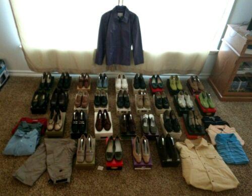 Lot of Vintage Shoes Clothes Jacket Coat Pants Wom