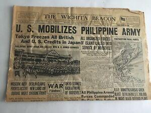 VTG-Newspaper-1941-U-S-Mobilizes-Philippine-Army-Wichita-Eagle-Section-A