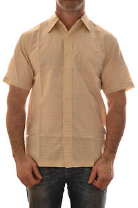 REGATTA-MENS-ULMAR-SHORT-SLEEVE-SHIRT-PEANUT-YELLOW-SIZE-SMALL-MS160-B4