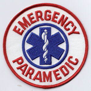 emergency paramedic logo iron on patch ebay rh ebay co uk paramedic logo clipart paramedic log book