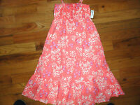 Girls Old Navy Tiered Easter Summer Floral Lined Cotton Sun Dress Twins