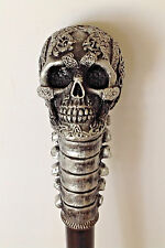 "Cane Skull and Vertebrae Handle ""Day of the DEAD"" Gentleman's Walking Stick"