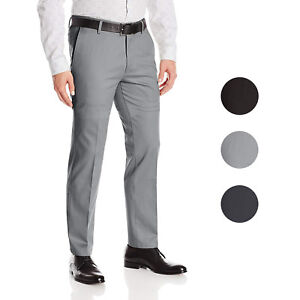 Boltini-Italy-Men-039-s-Flat-Front-Slim-Fit-Slacks-Trousers-Dress-Pants