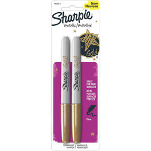034-Sharpie-Metallic-Permanent-Markers-Fine-Point-Gold-Ink-2-Pack-034