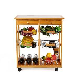 homfa k chenwagen servierwagen trolley beistellwagen. Black Bedroom Furniture Sets. Home Design Ideas