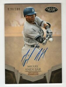 Miguel-Andujar-2019-Topps-Tier-One-Autographed-039-d-100-New-York-Yankees