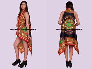 Black-Dashiki-African-Shawl-Kimono-Chiffon-Cardigan-Coats-Jackets-Top-Blouse