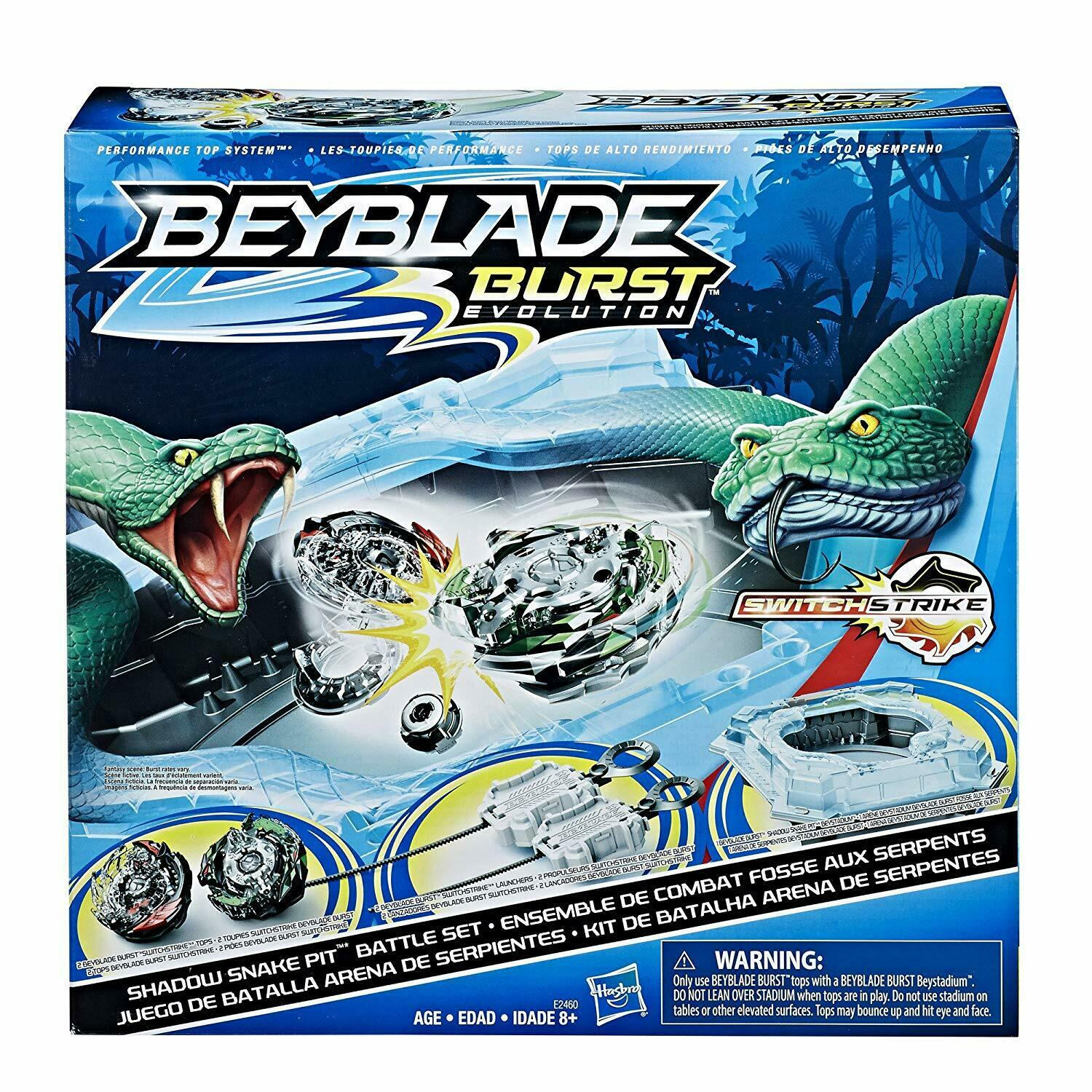 Beyblade Burst Switch Strike Shadow Snake Pit Battle Set Hasbro E2460