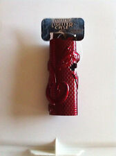 Mystic Horned Dragon on Brick Wall Red Pewter Bic Lighter Holder Case New