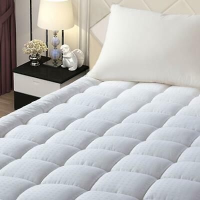 Pillow Top Mattress Cover Queen Size Bed Topper Pad Soft Hypoallergenic Cooling