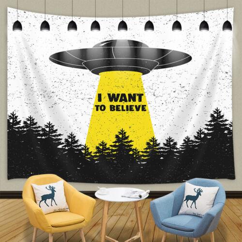 UFO Forest Hunting Tapestry for Bedroom Living Room Dorm Decor