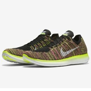 online store 0ceeb 4666c Details about Nike Womens Free Run Flyknit OC Running Shoes Multicoloured  RN ~ SALE
