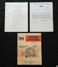 Original 1956 Minneapolis Moline Model E Corn Sheller Parts Manual Catalog