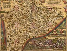 PRINT POSTER MAP OLD VINTAGE POLAND LIVONIA BALTIC COAST ILLUSTRATED LFMP0858