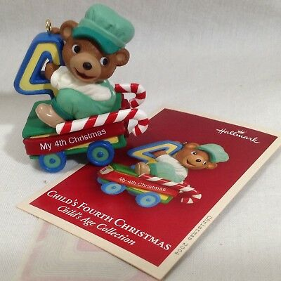 Hallmark Ornament Train Bear Fourth 4th Christmas Childs ...