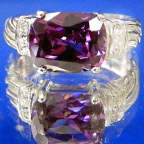 Heirloom Quality Sterling Amethyst Rings Avon R.J GRAZIANO Designer .925