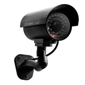 Fake Camera Dummy Waterproof Security CCTV Surveillance with Flashing Red