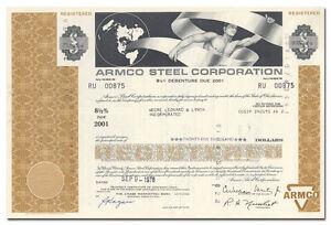 Armco-Steel-Corporation-Bond-Certificate