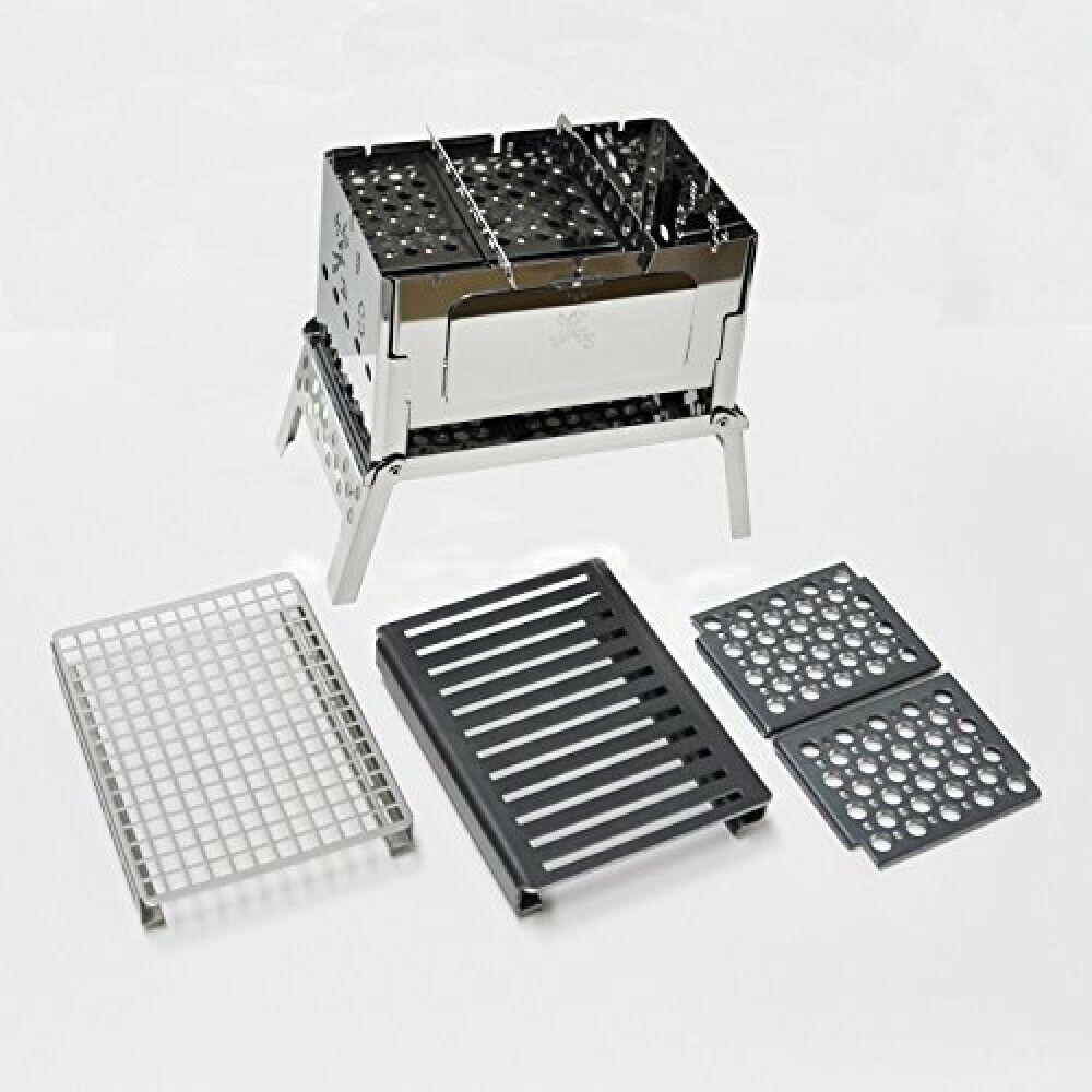 Sho's compact bonfire grill B-6kun 4-piece set   SHO-0004-10-25-38 Camping Cook