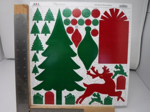 REMINISCE CHRISTMASTIME REINDEER TREE PRESENTS DIE CUT STICKERS 12X12 NEW A16821