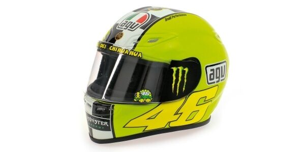 Helmet Agv Valentino Rossi MotoGP 2009 1 2 Replica Model MINICHAMPS