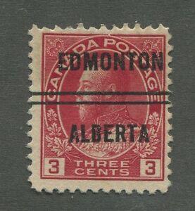 """CANADA PRECANCEL """"EDMONTON"""" 3-109 (1)"""