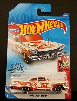 2020 Hot Wheels HW FLAMES #2//10 /'57 Plymouth Fury-Free Shipping!