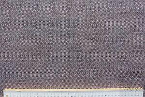 Stoff-Baumwolle-beschichtet-Peyer-Syntex-Indigo-Bluemchen-taupe-160-cm