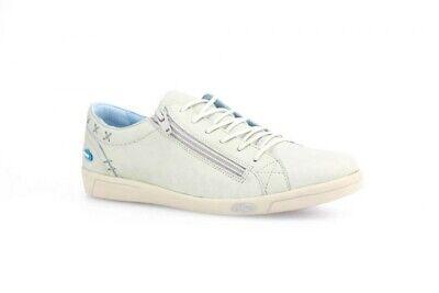 Serio Cloud Scarpe Sneaker Basse Aika Morbida Pelle Con Zip E Lacci Bianco Plantare Es