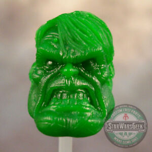 ML234-Custom-Sculpt-Cast-Incredible-Hulk-head-use-w-6-034-Marvel-Legends