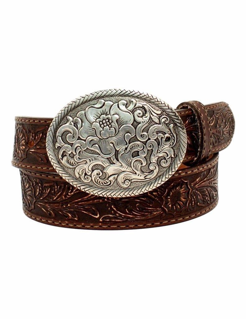 Nocona Western Womens Belt Belle Forche Leather Embossed Made in USA N3300008
