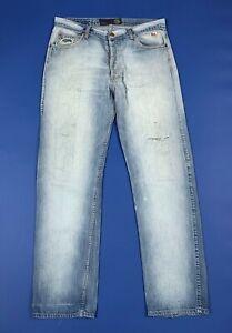 Roy-rogers-jeans-uomo-usato-strappati-W36-tg-50-destroyed-denim-boyfriend-T6126