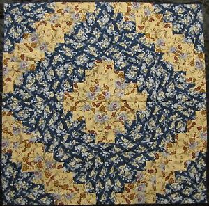 "16 PRE-CUT Log Cabin Quilt Top Blocks {Kit} (8.5"")-Patchwork ""Blue Garden"" NICE!"