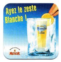 sous-bock METEOR bière blanche bierdeckel coaster bierviltje beermat