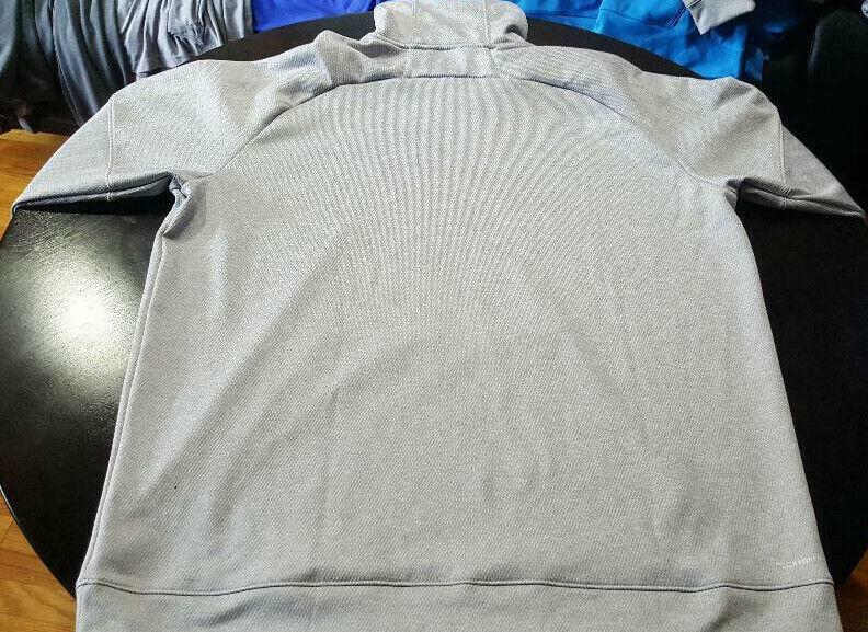 XLT//2XLT adidas Men/'s Team Issue Dk Grey Heather//Melange Fleece Hoodie DH9010