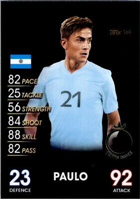 Topps Match Attax 101-Paulo Dybala Argentina Nº 169 estrellas mundiales